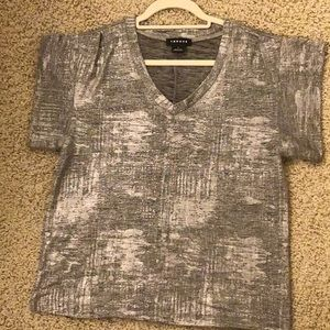 TROUVE  Silver shimmer top